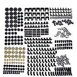 LOONGON Technic Series Parts – 450 piezas de conectores de cadena de engranaje de ladrillos juego de piezas de técnico para robot, compatible con piezas de Lego Technic