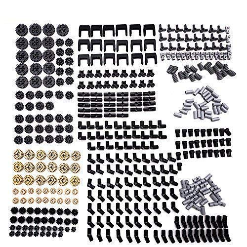 LOONGON Technic Series Parts - 450 Pieces Gear Chain Link Connectors Bricks Sets Technic Parts Pack for Robot, Compatible with Lego Technic Parts