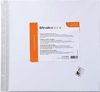 Artemio 11009007 10 Pochettes en Plastique vides pour abum Photo pour Scrapbooking 20.5cm x 20.5cm, Papier, Multicolore, 2...