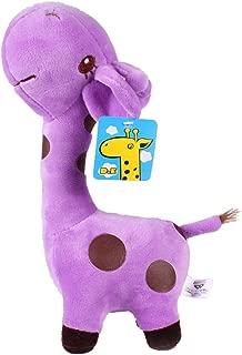 Luoke Plush Stuffed Cute Soft Giraffe Zoo Animals With Sucker Giraffe Toy Children Doll Birthday Gift (27cm/10.6'', Purple)