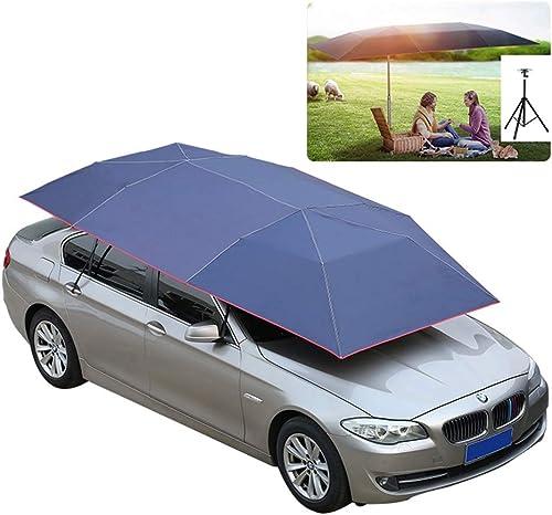 LIXIONG Tente De Voiture Parapluie De Plein Air Mobile Abri Voiture Portable des Voitures Prougeection Plié Parapluie Anti-UV Camping Pique-Nique, Bleu (Couleur   B, Taille   4.2x2.2m)