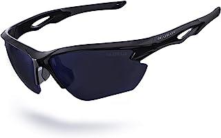DEAFRAIN Polarized Sports Sunglasses for Men Women Cycling Running Fishing Glasses TR90 Unbreakable Frame UV Protection