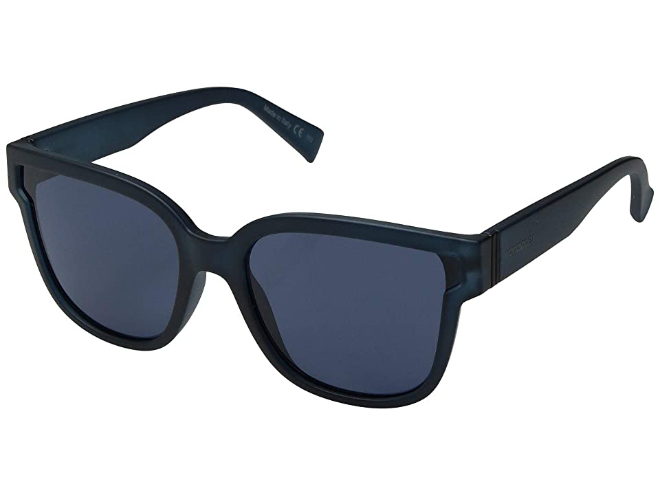 VonZipper Stranz (Navy Satin/Grey/Blue) Athletic Performance Sport Sunglasses