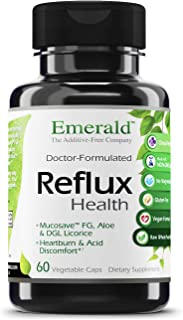 Emerald Labs Reflux Health - Acid Reflux Support Supplement with Mucosave FG, Aloe, and DGL Licorice - All Natural Ingredi...