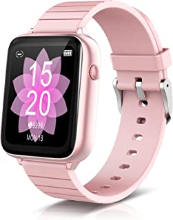 ELEGIANT SmartWatch, 1.54'' Reloj Inteligente IP68 con Pantalla Táctil, Pulsera Actividad Inteligente Hombre para Deporte, Monitor de Actividad, Podómetro Cronómetro Pulsómetro para iOS Android, Rosa