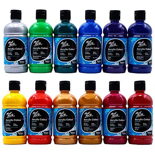 Mont Marte Signature Acrylic Color Paint Set 12 Vibrant Colors