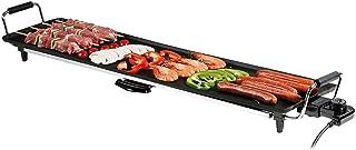 Teppan Yaki Barbecue électrique XXL Bac récupérateur de graisse 90x23cm - Barbecue japonais 1800W, grande surface de c...