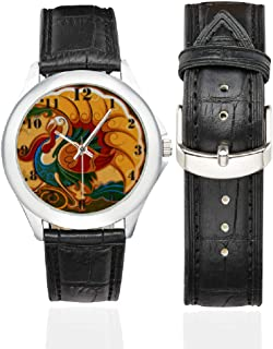 Thanksgiving Day Gifts Turkey Women's Classic Leather Strap Watch