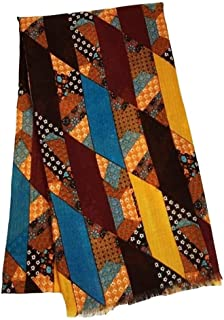 Voile Printed Ethnic Style Scarf Female Shawl Sunscreen,Perfect Accent to Any Outfit (Color : Orange, Size : 180 * 90cm)