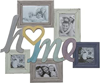 Bilderrahmen Home Sweet Home Collage Fotorahmen groß weiß Holz Family Fotowand