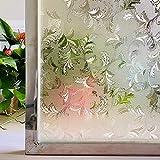 LMKJ Pellicola per vetri Arcobaleno Adesivo Decorativo per vetrate in Vetro colorato Adesivo per vetri elettrostatico per Privacy Pellicola smerigliata A47 30x200cm