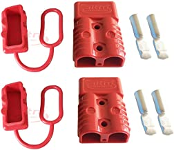 175A Battery Connector AWG 1/0 Quick Connect Battery Modular Power Connectors Quick Disconnect (Red)