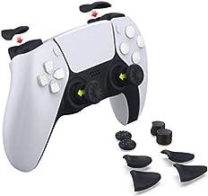 For PS5コンソールゲームパッドトリガーボタン滑り止めロッカーキャップに適していますゲームハンドル用ボタンキャップ軽量ソフトプロテクターカバーロッカーキャップ
