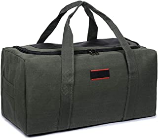 Canvas Men Travel Carry On Luggage Duffel Bag Tote Large Weekend Overnight Capacity Bag Green