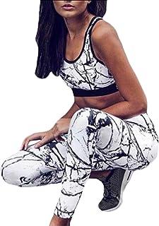 Women's Two Piece Floral Print Tracksuit Legging Crop Top Set Activewear Sportswear