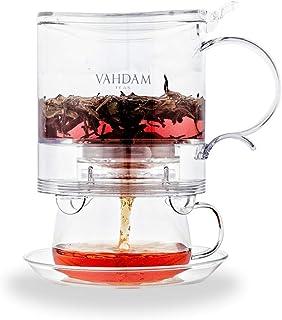 VAHDAM, Imperial Tea Maker, 16 oz, Bottom Dispensing Tea Pot   100% SAFE   Drain-Tap Technology, All-in-one Tea Kit   Best...