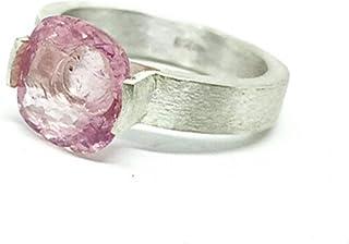 Magnifico anello con spettacolare tormalina rosa naturale di 2,97 carati di misure (9,4 mm x 4,8 mm). Anello in argento st...