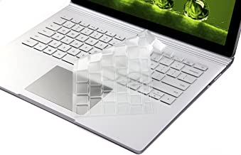 Ultra Slim Clear Transparent Keyboard Cover Skin Protector for Microsoft Surface Book & Surface Book 2 and 2017 Released Microsoft Surface Laptop (NOT Fit Surface Pro 3/Pro 4/Pro 5)
