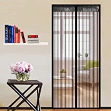 Magnetic fly screen door anti-mosquito household electromagnetic shielding door mute magnetic non-perforated curtain (Size...