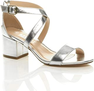 e2fb29bb98d Amazon.co.uk: Silver - Sandals / Women's Shoes: Shoes & Bags
