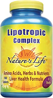 Nature's Life Lipotropic Complex | Comprehensive Support for Healthy Liver Function | With Choline & Inositol | Non-GMO | ...
