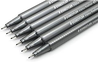 Staedtler Triplus Fineliner Black 0.3mm - Pack of Six