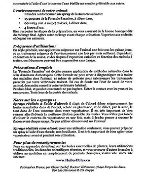 HuilesUtiles - La Formule Parasites Animaux - 20 ml