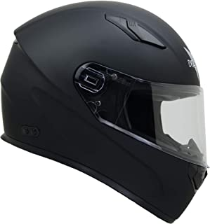 Vega Helmets 6100-058 Ultra Big Head Motorcycle Helmet for Men & Women w/ Large Heads or Cheeks Matte Black 4XL