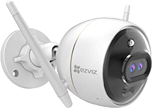 EZVIZ Outdoor Security Camera Dual Lens 1080P, Excellent Color Night Vision, Active Light & Siren Alarm with PIR Motion De...
