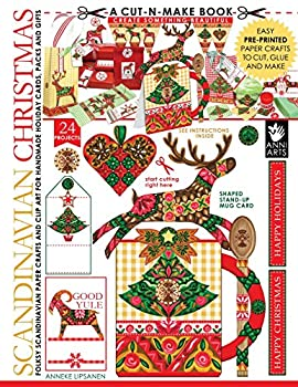 Scandinavian Christmas Cut-n-Make Book  Folksy Scandinavian Paper Crafts and Clip Art for Handmade Holiday Cards Packs and Gifts  Volume 2