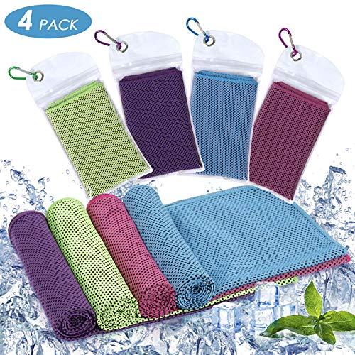 Diealles Shine Kühlhandtuch Cool Towel, Kühlendes Handtuch Set Sofortige Relief Eiskalt Kühlen Handtuch Atmungsaktives Mesh Schweißsaugfähig für Reisen, Fitness, Yoga, Reise, 90 x 30 cm