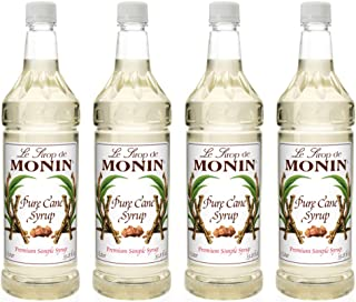 Monin - Pure Cane Syrup, Pure and Sweet, Great for Coffee, Tea, and Specialty Cocktails, Gluten-Free, Vegan, Non-GMO (750 ml)