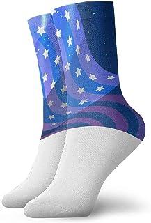 tyui7, Calcetines de compresión antideslizantes del 4 de julio de EE. UU. Cosy Athletic 30cm Crew Calcetines para hombres, mujeres, niños