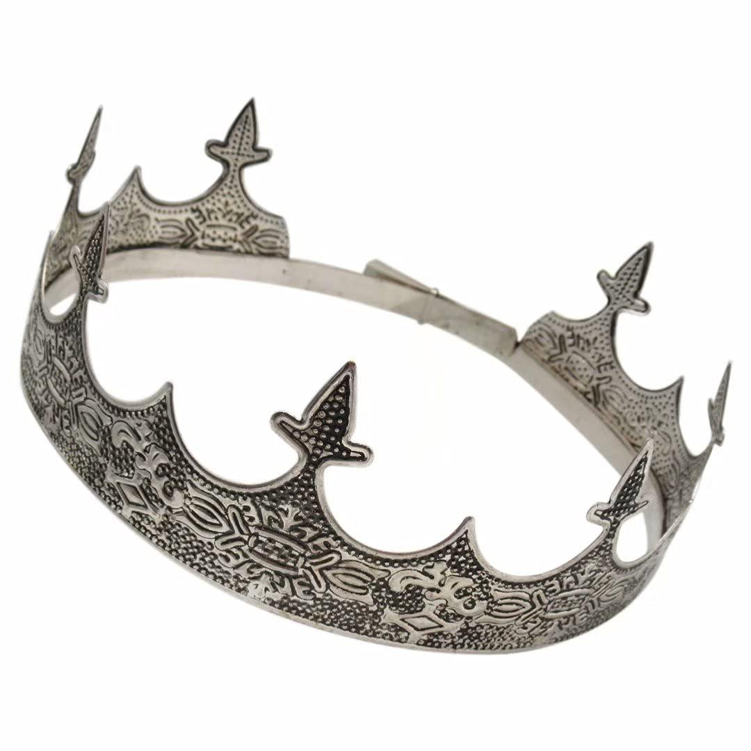 Performance Antique Silver King Crown for Men's - San Francisco Mall Cheap SALE Start Men