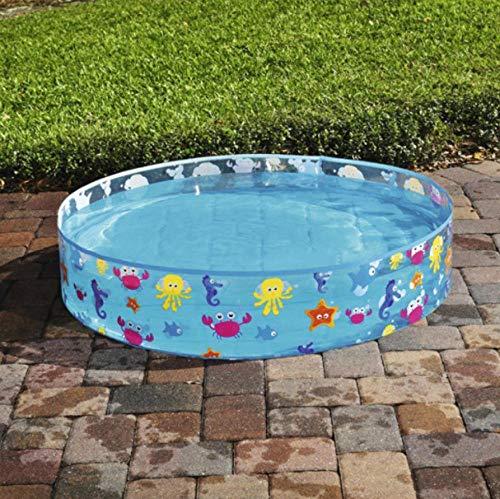 YULEW Aufblasbares Kinderbecken Ocean Ball Pool Hartgummi Runde Baby Badewanne Kinder Sommer Outdoor-Spielzeug