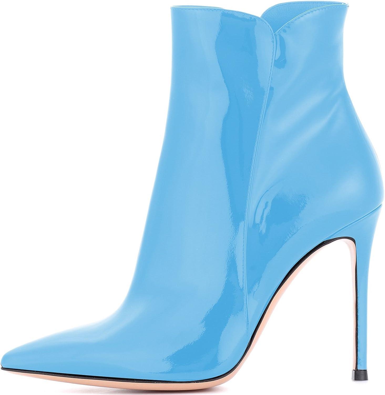 Elashe Damen Stiefeletten   Damen Stiefel mit mit mit Absatz  10CM Knchelhohe Stiefel   Leder Optik Schuhe  82e2d1