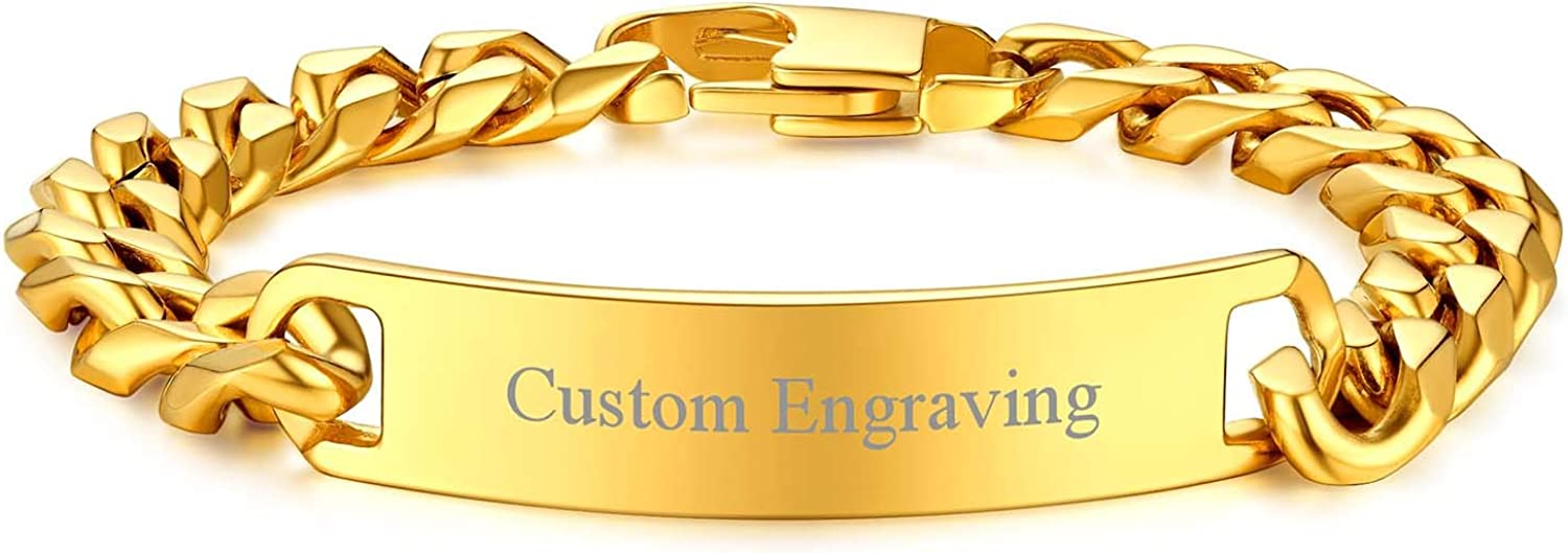 FOCALOOK Sale Super intense SALE price Personalized Engravable Stainless Steel ID fo Bracelets