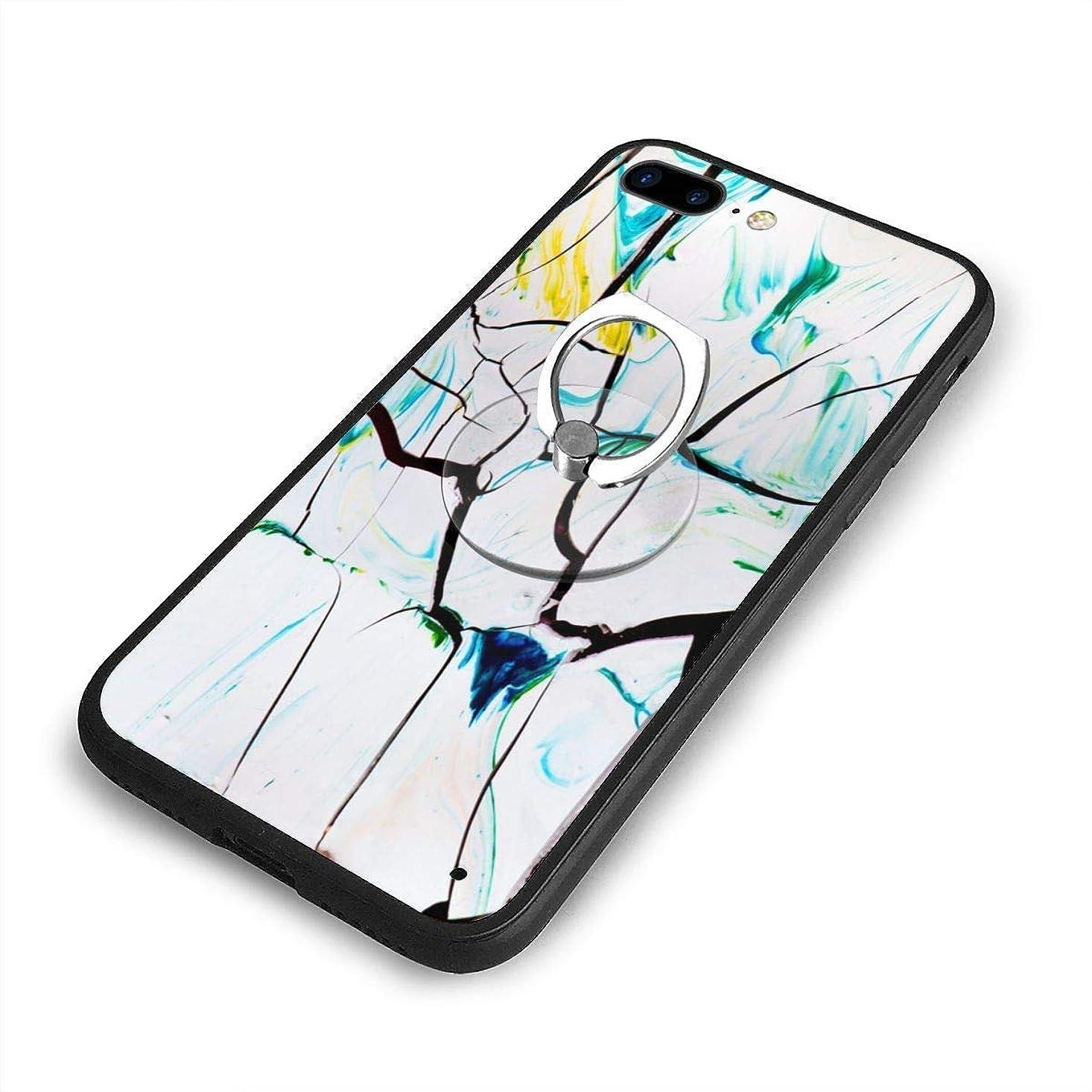 ツイン希望に満ちた概念白と色とりどりのイラストiPhone 7/8 Plusケースリングブラケット 携帯カバー 創意デザイン軽量 傷つけ防止 360°回転ブラケット 携帯ケース PC 衝撃防止 全面保護