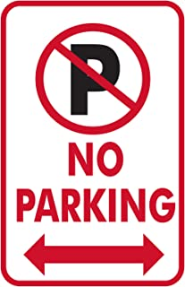 No Parking (With Arrows) PVC Parking Sign