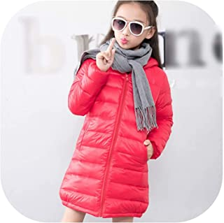Surprise S 7 Color Winter Jacket for Boy Girls Long Down Jacket Solid Hooded Unisex Kids Jackets