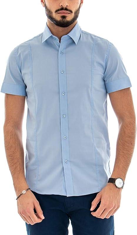 Giosal Outfit Camisa de Manga Corta Azul Celeste Bermuda Azul ...