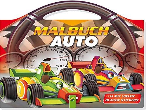 Malbuch Auto: Mit vielen bunten Stickern und tollem Lenkrad-Griff