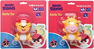 Angry Birds-Rattle Toy Cow, Lion (Pack of 2)