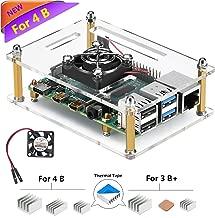 iUniker Raspberry Pi 4 Case, Raspberry Pi 4b Case with Fan Raspberry Pi Fan Case with Raspberry Pi 4 Heatsink Raspberry Pi Heatsink for Raspberry Pi 4 Model B/Pi 3B+/ Pi 3B/ 2B