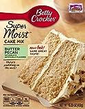 Betty Crocker Supermoist Cake, Butter Pecan, 15.25-Ounce (Pack of 4)