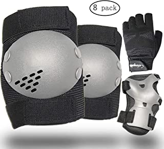 EANUR Kids/Youth Protective Gear Set, Upgraded Knee Pads. Elbow Pads. Guards. Cycling Gloves for Roller Skates Cycling Bicycle Skateboard Inline Skating Scooter