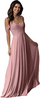 Women's Off The A Line Bridesmaid Dress Ruched Prom Party Evening Gown