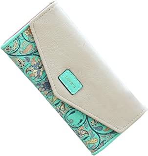 SeptCity Womens Wallet Floral Leather Western Trifold Clutch Gift for Her,2021