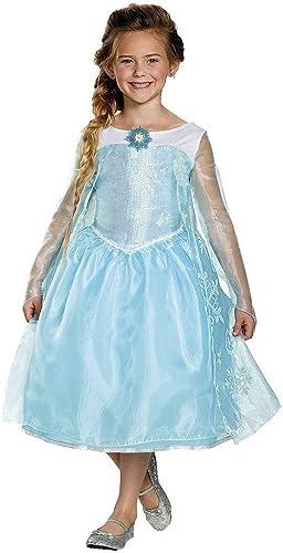 Girl's Frozen Elsa Sequin Deluxe Costume (M(7-8)) by Disney