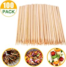 Natural Bamboo Skewers, Wooden Skewers,Skewer Sticks,kebab Sticks,Short Skewers,Wooden Kebab Skewers -Skewers for Fruit Kabobs,Appetizer, Chocolate Fountain, Cocktail More Food, (8-Inch(100pcs))